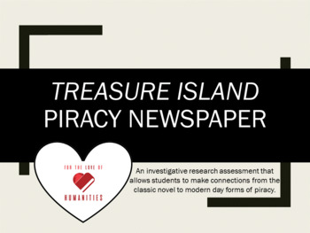 Treasure Island Piracy Newspaper