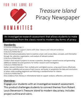Treasure Island Piracy Newspaper