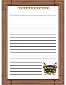 Treasure Island Pirate Themed Writing Paper