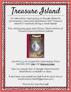 Treasure Island Reading Log on Google Slides!!