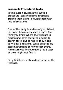 Treasure Island Text Types mini-unit