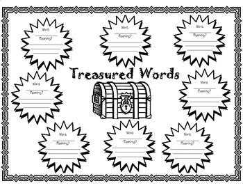 Treasure Island (Great Illustrated Classics) Treasured Words Organizer