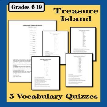 Treasure Island Vocabulary - 5 Matching Quizzes