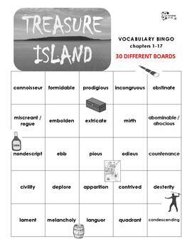 Treasure Island Vocabulary Bingo