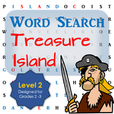 Treasure Island Word Search Activity for First and Second Grade