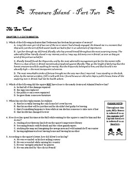 Treasure Island quiz ch 7-12 multiple choice with answer key