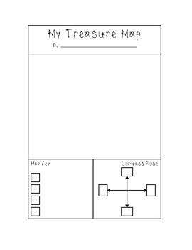Treasure Map Direction Writing