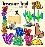 Treasure Map Gem Desert Clip Art Pack
