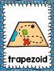 Treasure Map Shape Posters