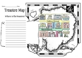 Treasure Map Template- ESL directions lesson