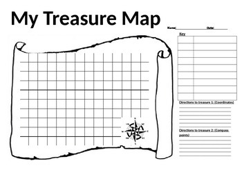treasure map worksheet by allison 39 s resources teachers pay teachers. Black Bedroom Furniture Sets. Home Design Ideas