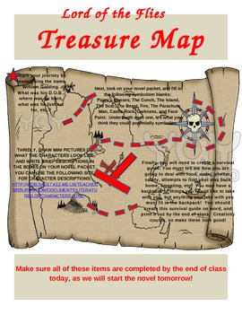 Treasure Map for Lord of the Flies
