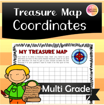 Treasure Map for Position & Direction with Coordinates