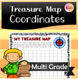 Treasure Map with Coordinates