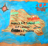 Treasure Maps History Lesson and Art Project K-6th Grade Common Core ELA