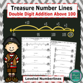 Treasure Number Lines- Double Digit Addition Above 100 Lev