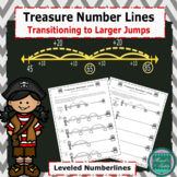 Treasure Number Lines- Transitioning to Larger Jumps on th