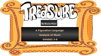 Treasure Song Lyric Analysis For Figurative Language Grades 5-8