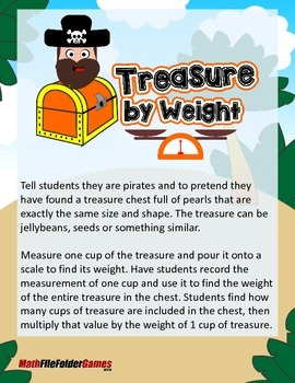 Treasure by Weight {Measurement Activity}