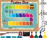 Treasure hunt board Pirates Dice science clip art Nautical map game ship 181s