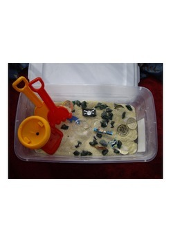 Treasure hunt sensory box