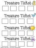 Treasure tickets-rewards-sticker chart