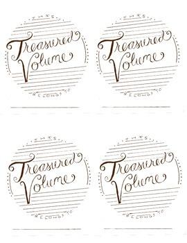 """Treasured"" Bookplate Brown"