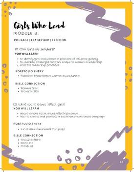 Treasured: Module 8 - Girls Who Lead