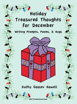 Holiday Treasured Thoughts for December - Writing Prompts, Poems, Hugs