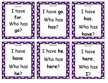 Treasures 1st Grade Smart Start High Frequency Word I Have/Who Has