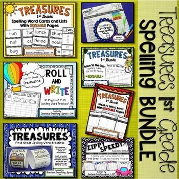 Treasures 1st Grade --- Treasures Spelling Word **BUNDLE**