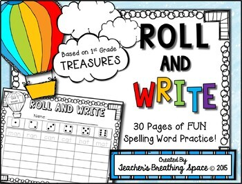 Treasures 1st Grade -- Treasures Spelling Word Roll and Write -- Spelling Game
