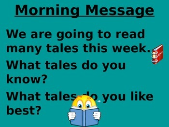 Treasures 1st grade Unit 4 week 5 PPT for Morning Messages