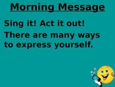 Treasures 1st grade Unit 5 week 1 PPT for Morning Messages