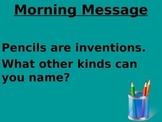 Treasures 1st grade Unit 5 week 3 PPT for Morning Messages