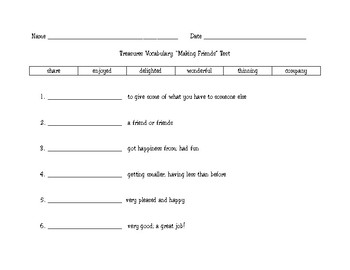 Treasures 2.1 Vocabulary Quizzes