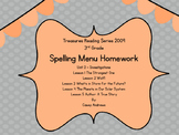 Treasures 2009 3rd Grade Spelling Menu Unit 2
