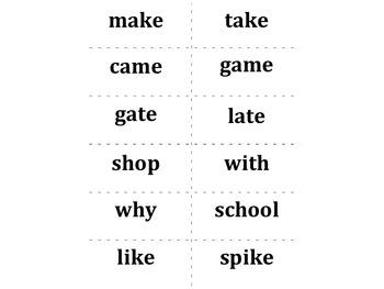 Treasures Aligned (2011, CA): First Grade Unit 3 Spelling Words Cards