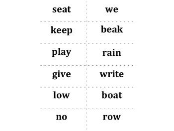 Treasures Aligned (2011, CA): First Grade Unit 4 Spelling Words Cards