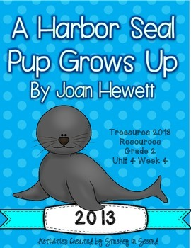 Treasures 2013 Companion Pack A Harbor Seal Pup Grows Up Grade 2, Unit 4, Week 4