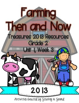 Treasures 2013 Companion Pack Farming Then and Now- Grade 2, Unit 1, Week 3