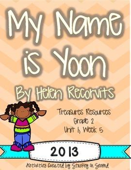 Treasures 2013 Companion Pack My Name is Yoon- Grade 2, Unit 1, Week 5
