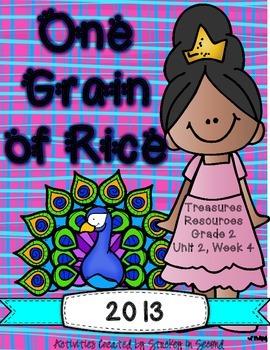 Treasures 2013 Companion Pack One Grain of Rice- Grade 2, Unit 2, Week 4