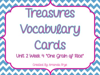 Treasures 2.4 Vocabulary Cards