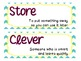 Treasures 2.4 Vocabulary Cards