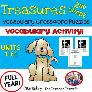 Treasures 2nd Grade Crossword Puzzles Units 1 - 6 Full Year