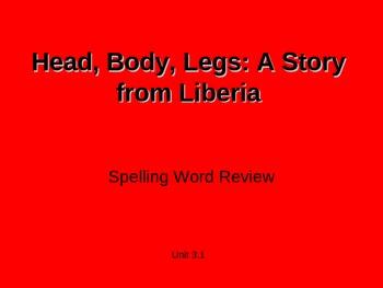 Treasures - 2nd Grade - Head, Body, Legs - Spelling PowerPoint