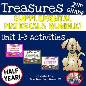 Treasures 2nd Grade Units 1, 2, 3 Supplemental Materials Bundle