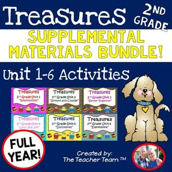 Treasures 2nd Grade Full Year Bundle Unit 1 - 6