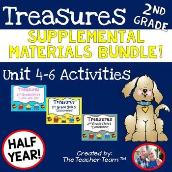 Treasures 2nd Grade Unit 4 - 6  Half Year Supplemental Resources Bundle